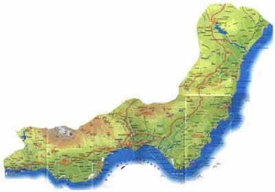 Mapa Costa De Almeria Andaluciacar Com