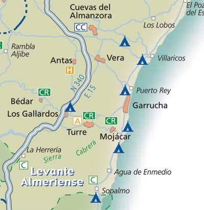 Mojacar Spain Map.Mojacar Situation Almeria Andaluciacar Com