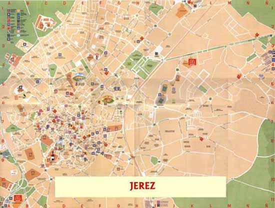 Jerez Street map