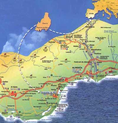 Map Of Roquetas Streets Almeria Andaluciacar Com